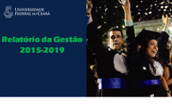Relatório da Gestão 2015 - 2019
